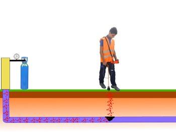 detection de fuites avec gaz traceur