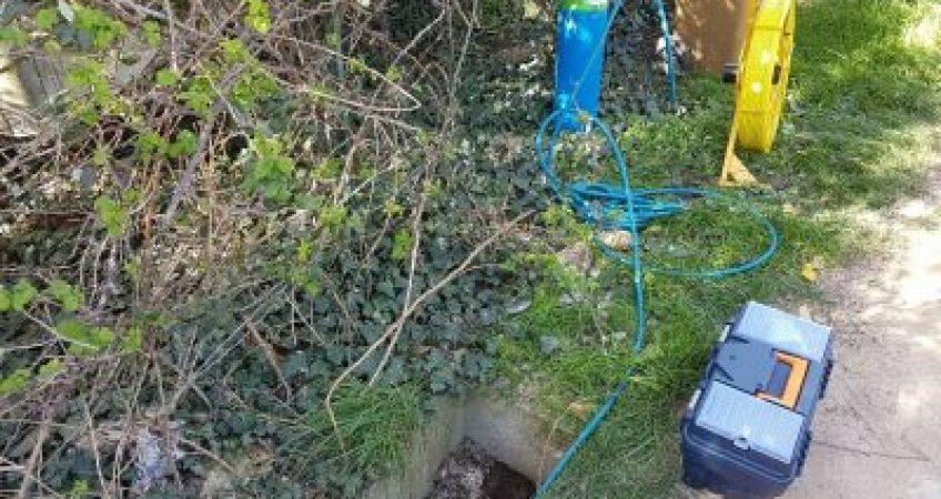 Recherche de fuite sur un réseau d'eau potable en PE20 à Arles (13) 2