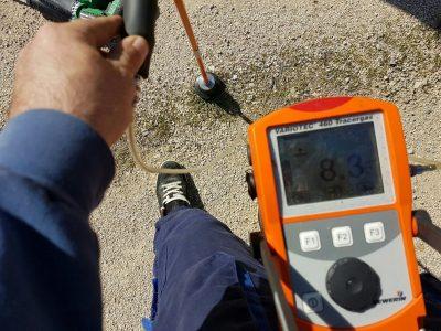 Recherche de fuite sur un réseau d'eau potable en PE20 à Arles (13)3
